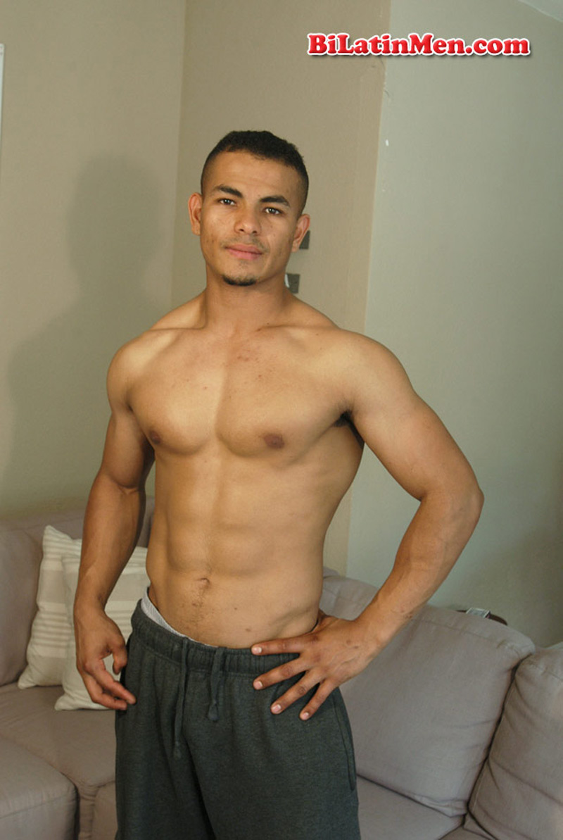 Latino male model naked nude pic