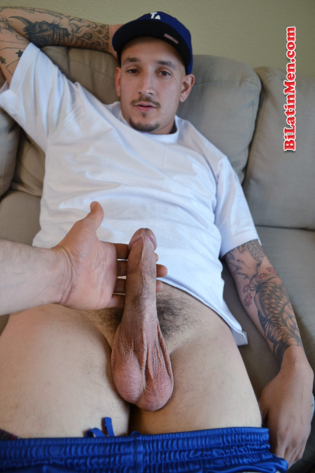 image Big dick latin thug jerking off